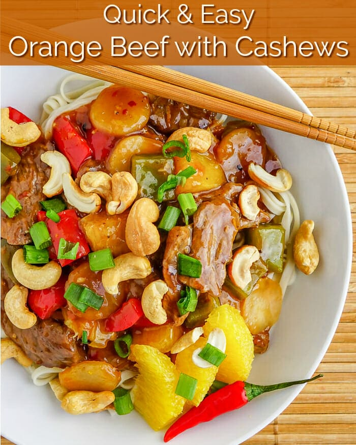 Orange Beef with Cashews image with title text