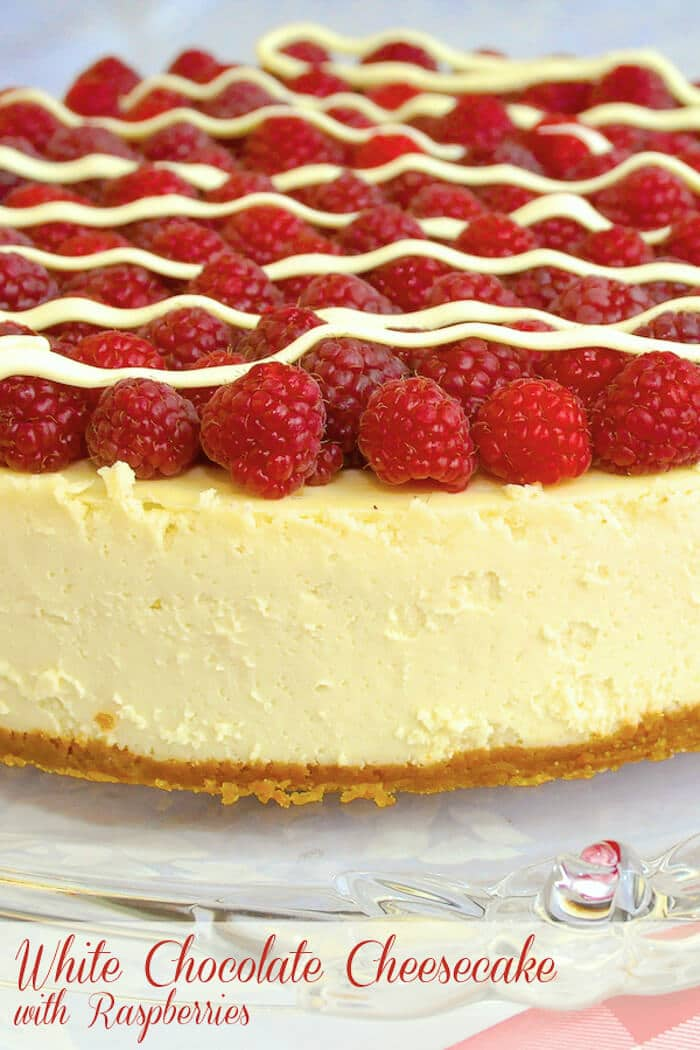 White Chocolate Cheesecake with Raspberries
