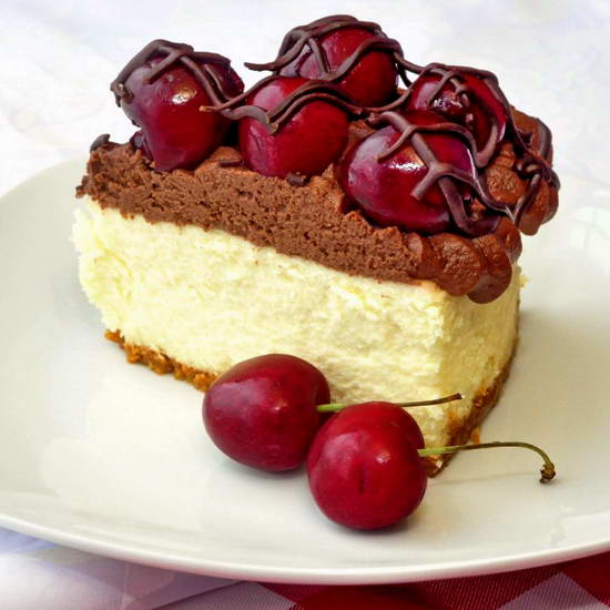 Cherry White Chocolate Cheesecake Bomb