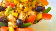 Low Fat Chicken Taco Salad with Mango Salsa