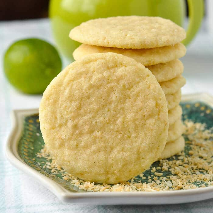 Coconut Lime Sugar Cookies - try to eat just one! Impossible!