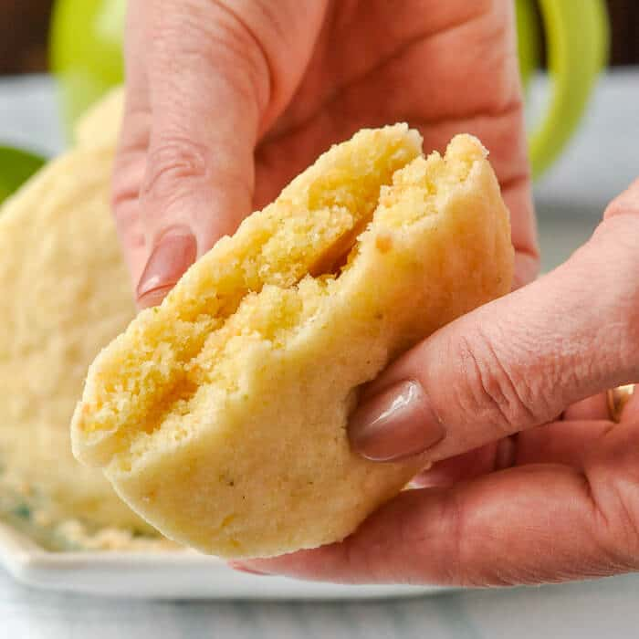 Chewy Coconut Lime Sugar Cookies