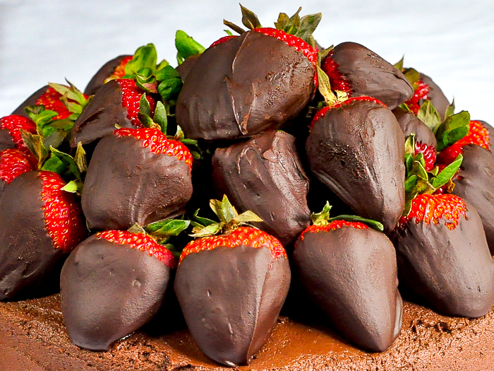 Close up photo of Chocolate Truffle Dipped Strawberries