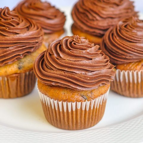 Double Chocolate Banana Cupcakes