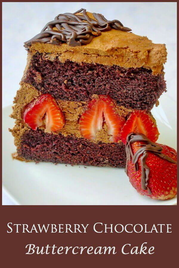 Strawberry Chocolate Buttercream Cake