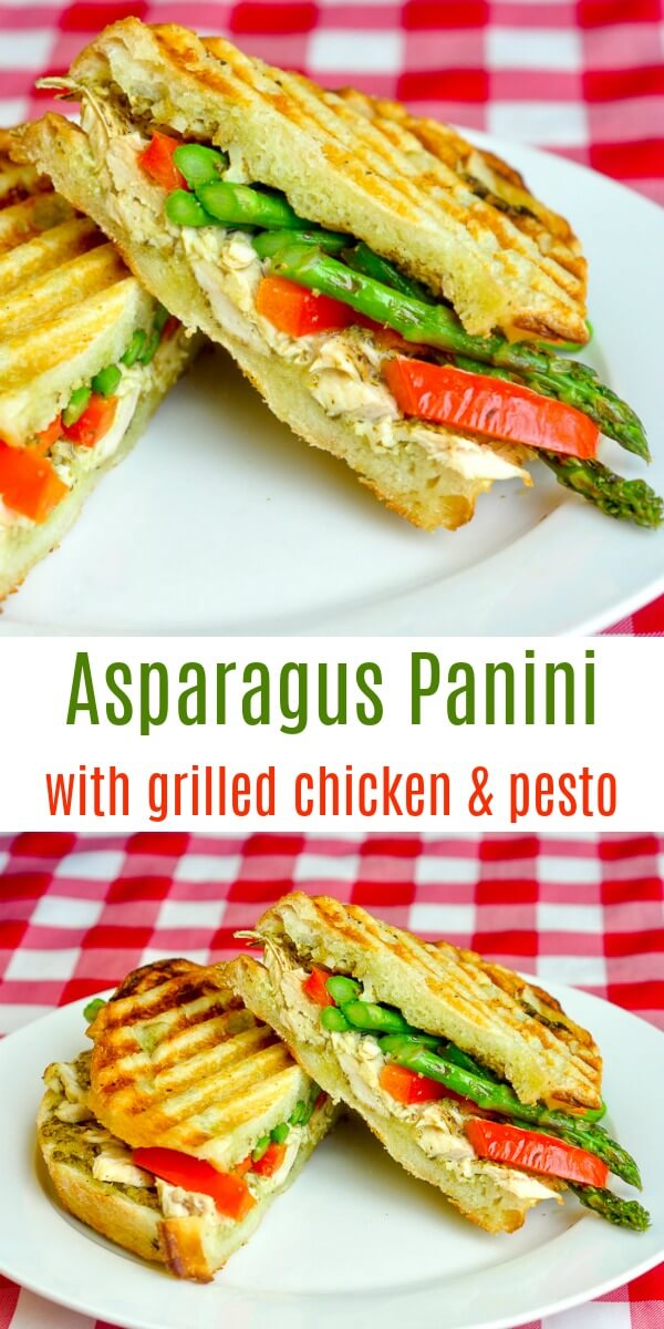 Asparagus Panini image collage with text for Pinterest
