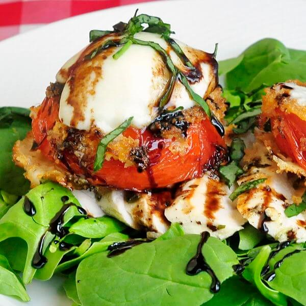Fried Red Tomato and Grilled Chicken Salad - Rock Recipes - Rock ...