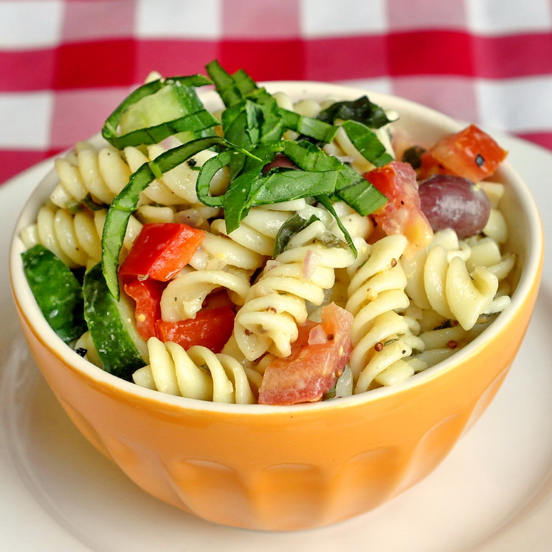 Garden Pasta Salad with Lemon Dijon Dressing - Rock Recipes - Rock ...