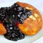 Brioche Toutons with Blueberry Honey Sauce
