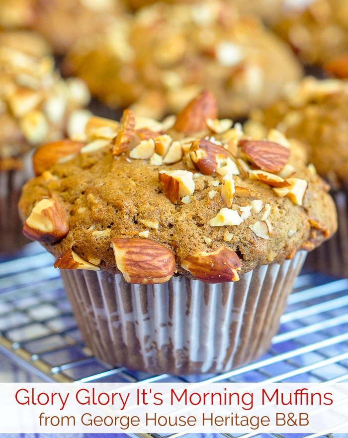 Glory Glory It's Morning Muffins photo with title text for Pinterest