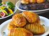 Garlic Concertina Potatoes a.k.a. Hasselback Potatoes