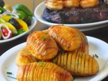 Garlic Concertina Potatoes a.k.a. Hasselback Potatoes