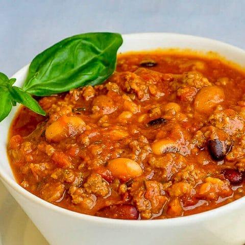 15 Bean Sausage Chili