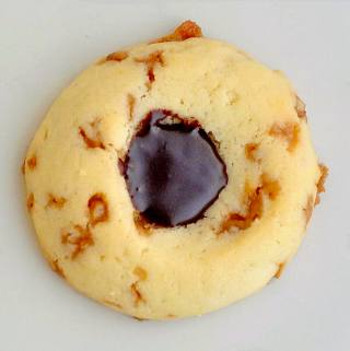Toffee Chocolate Thumbprint Cookies