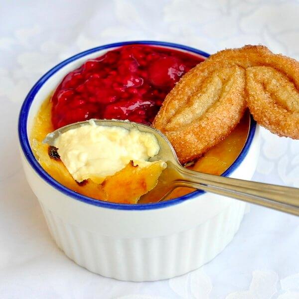 The Best Crème Brulée image with palmier