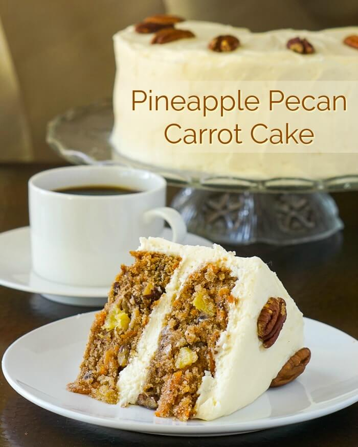 Pecan Pineapple Carrot Cake image with title text
