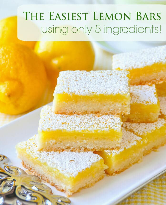 Super Easy Lemon Bars Made With Only 5 Simple Ingredients