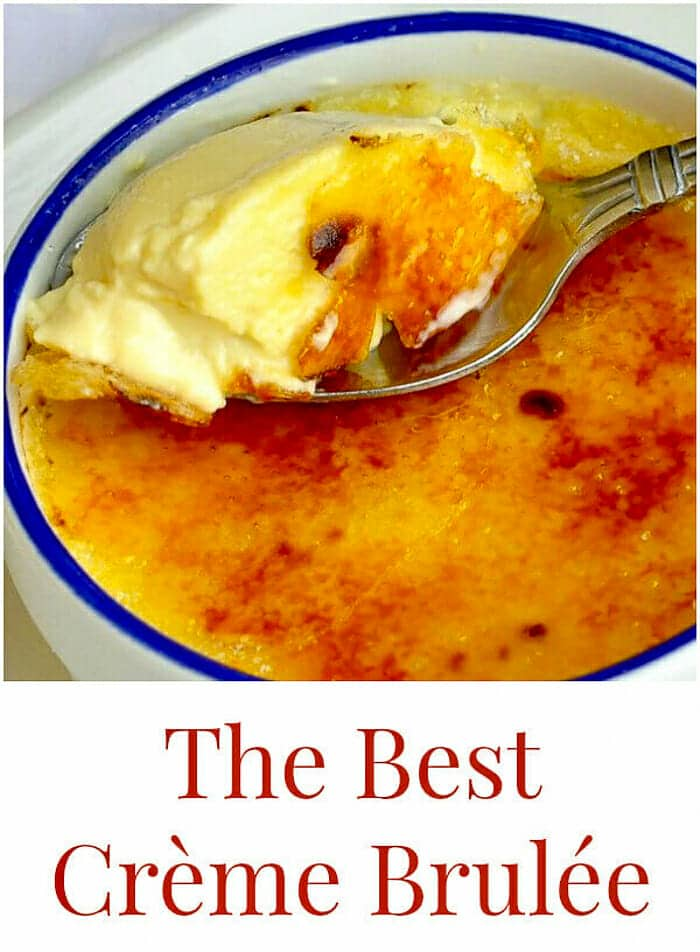 The Best Crème Brulée image with title text added