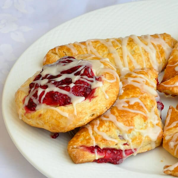 Fruit Danish and Danish Pastry Turnovers