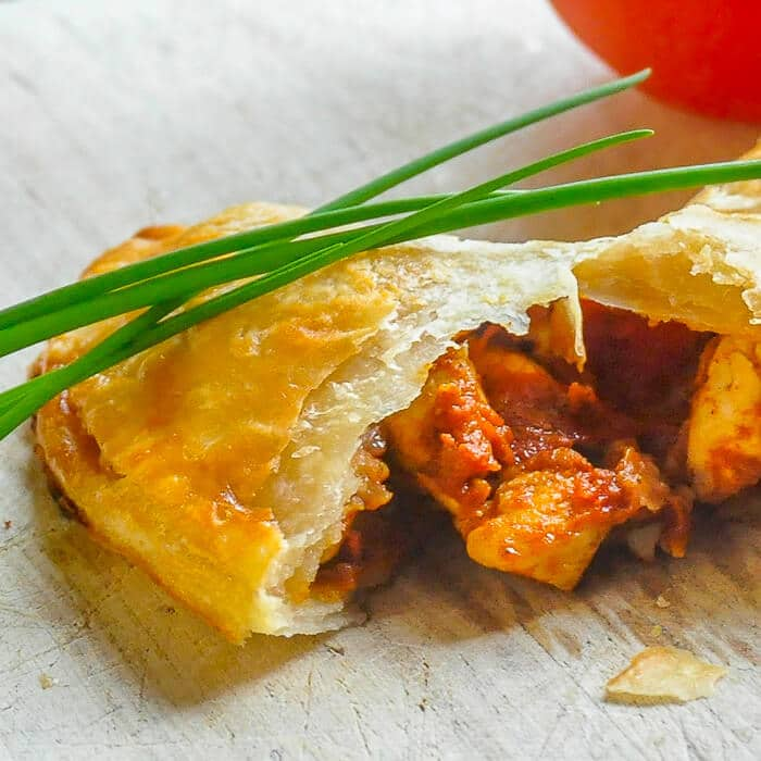Baked Chicken Empanadas. Full flavour without frying!