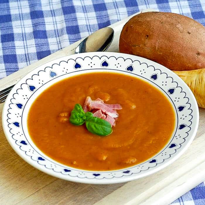 Ham Sweet potato and Parsnip Soup
