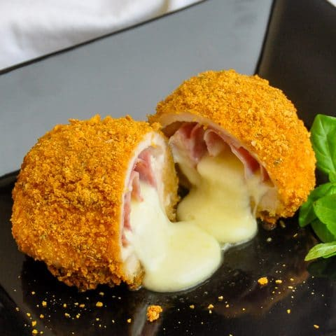 Italian Chicken Cordon Bleu. Condon bleu is definitely a French idea but this recipe interprets it with some great Italian flavours.