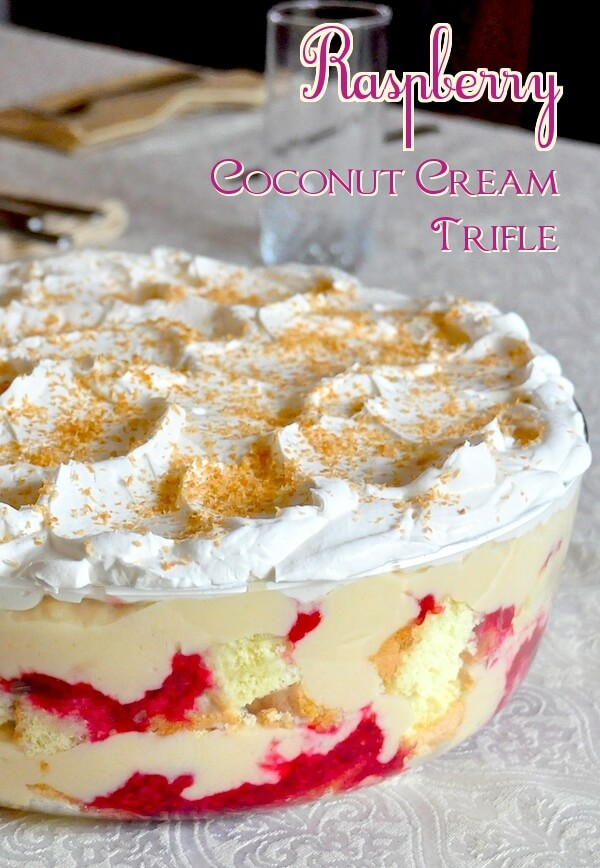 Raspberry Coconut Cream Trifle