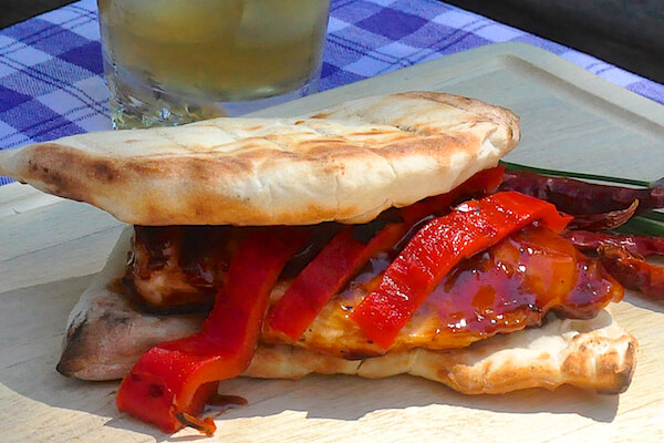 Grilled Kung Pao Chicken Burgers