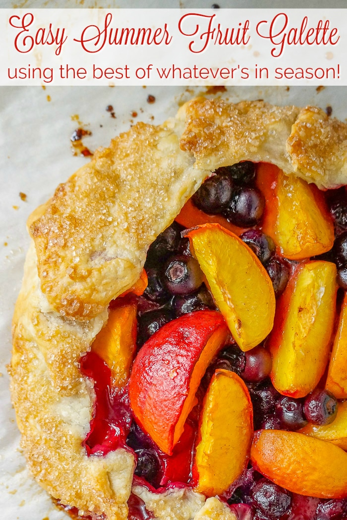 Easy Summer Fruit Galette image with title text