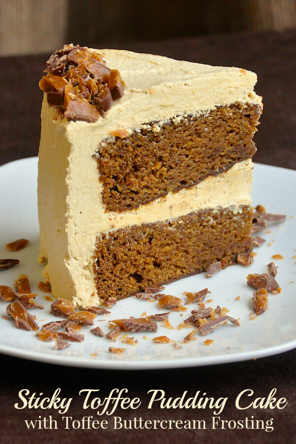 Sticky Toffee Pudding Cake with Toffee Buttercream Frosting