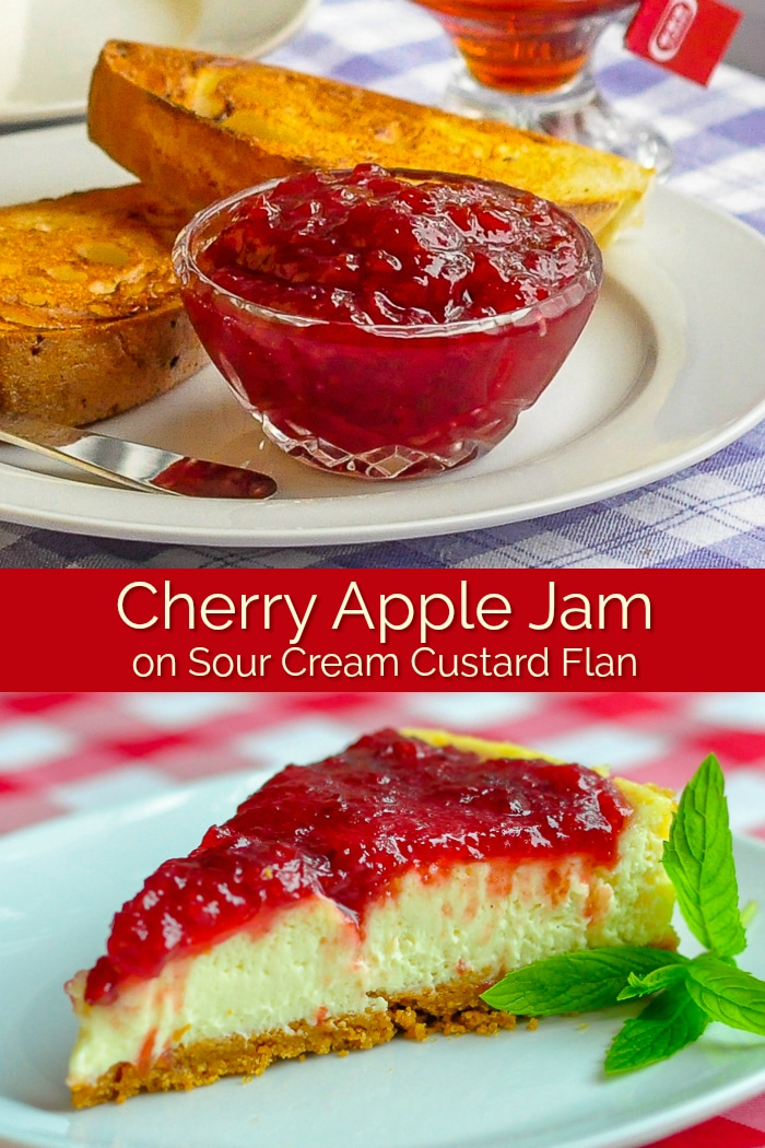 Cherry Apple Jam photo collage with title text for Pinterest