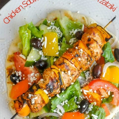 Chicken Souvlaki with Lemon Mint Tzatziki