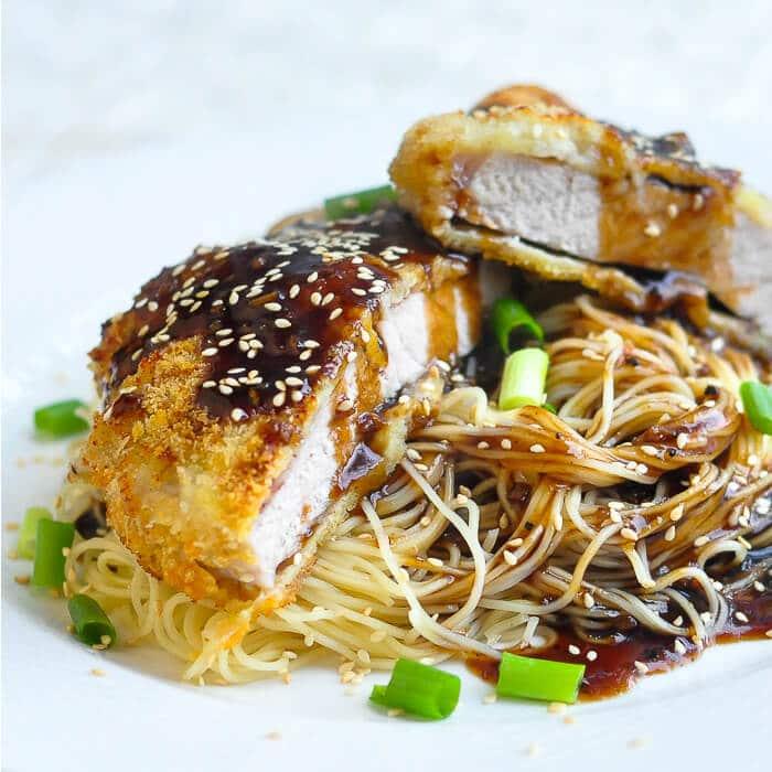 Baked Panko Teriyaki Pork Chops