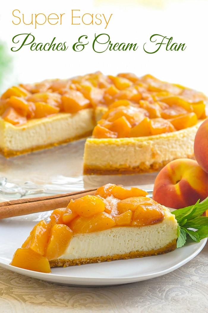 Peaches and Cream Flan - Rock Recipes