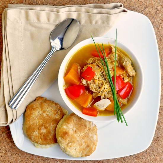 Turkey Quinoa and Sweet Potato Soup