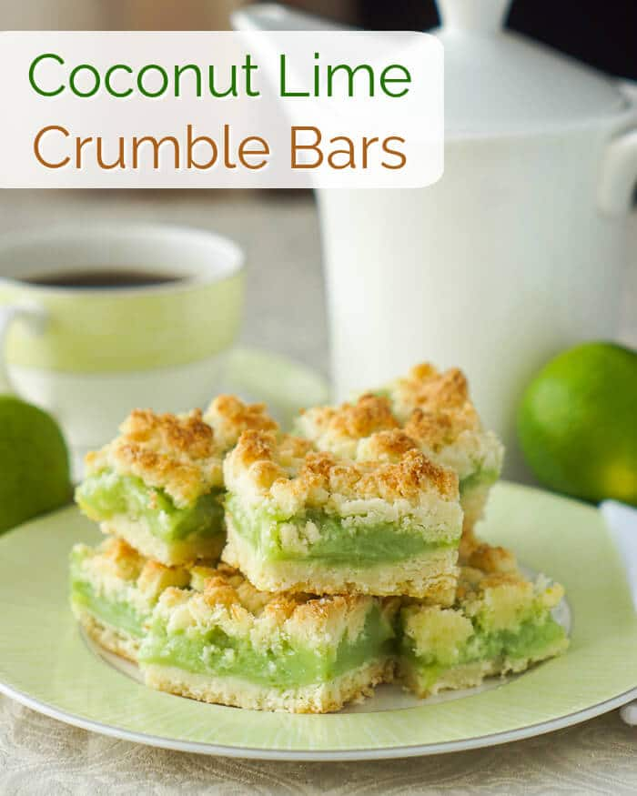 Coconut Lime Crumble Bars image with title text