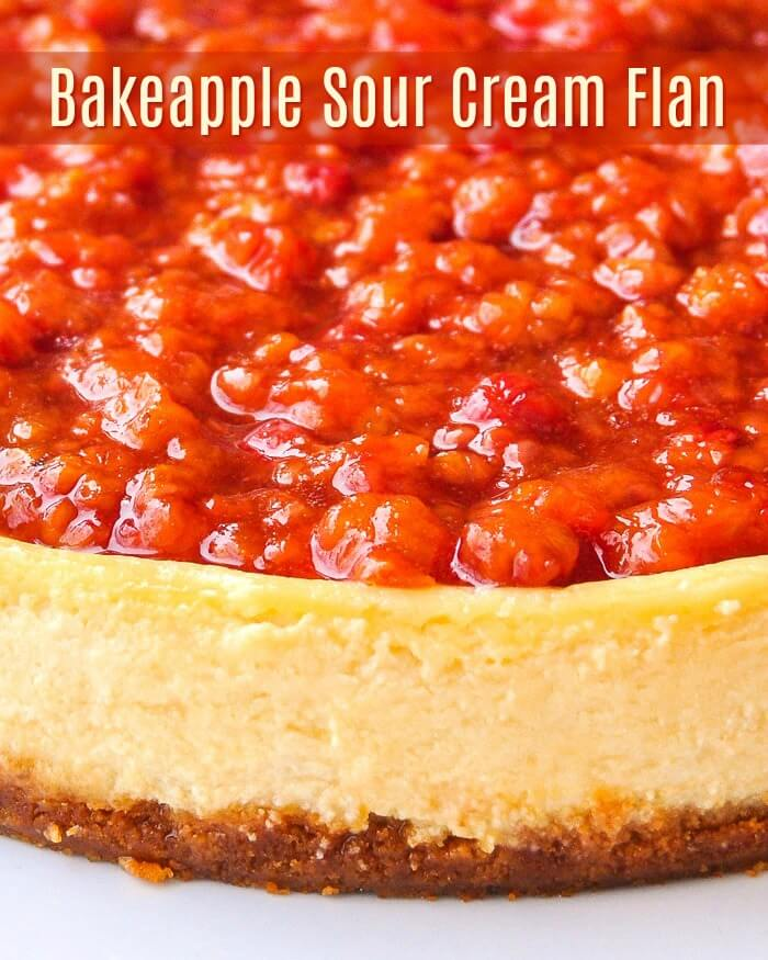 Bakeapple Sour Cream Flan with Text