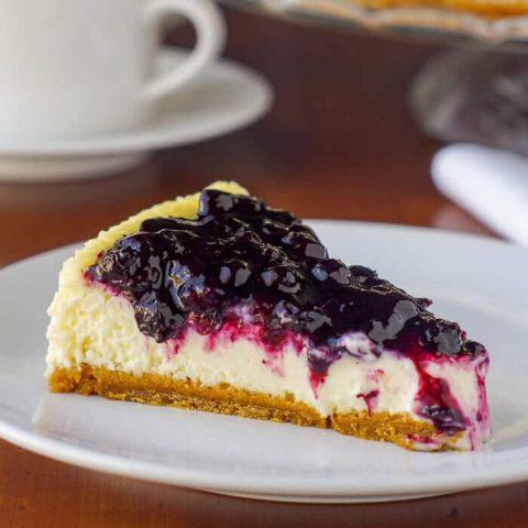 Blueberry Sour Cream Flan