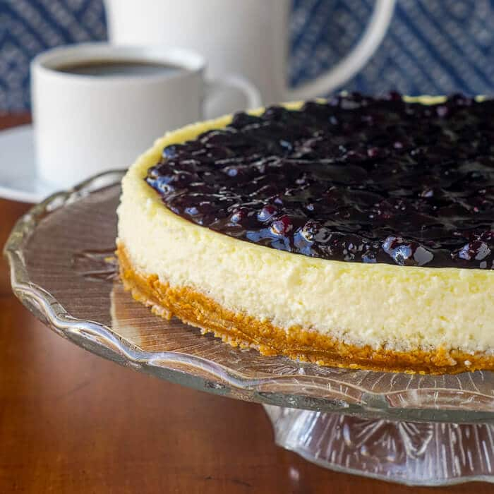 Blueberry Sour Cream Flan
