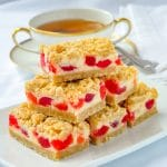 Cherry Vanilla Cheesecake bars featured image