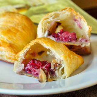 Hazelnut Blackberry Brie Puffs