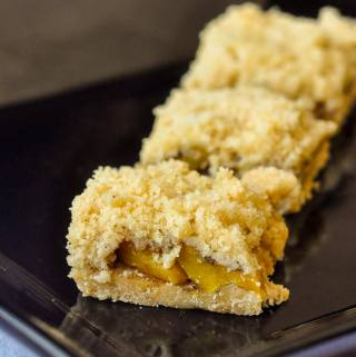 Mango Cookie Bars - an exotic twist on a crumb cookie bar.