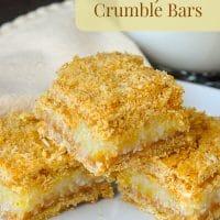 Lemon Graham Crumble Bars