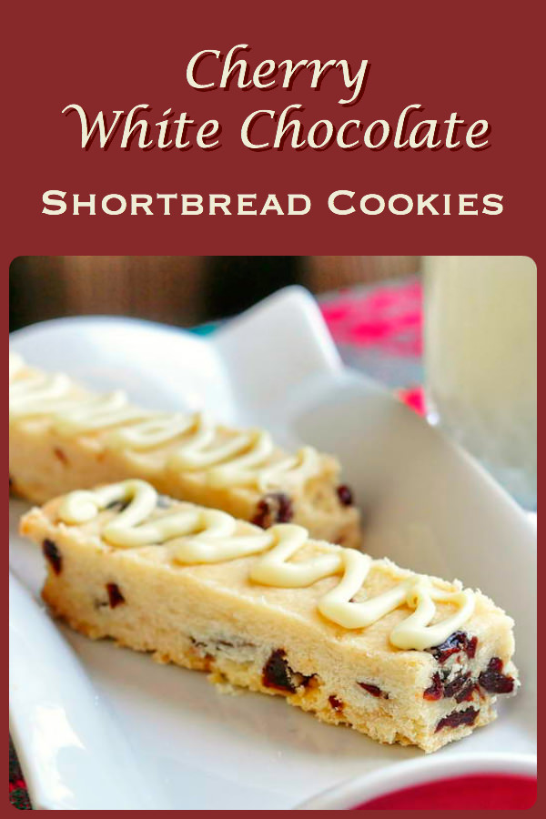 Cherry White Chocolate Shortbread Cookies