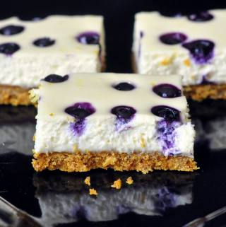 Lemon Blueberry Cheesecake Dessert Bars