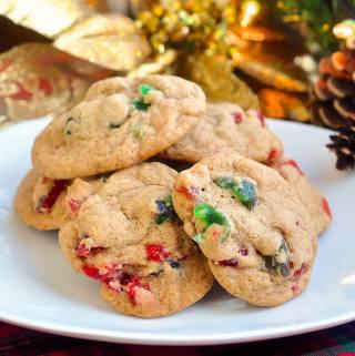 Chewy Light Fruitcake Cookies