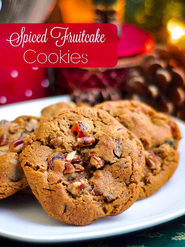 Dark Fruitcake Cookies