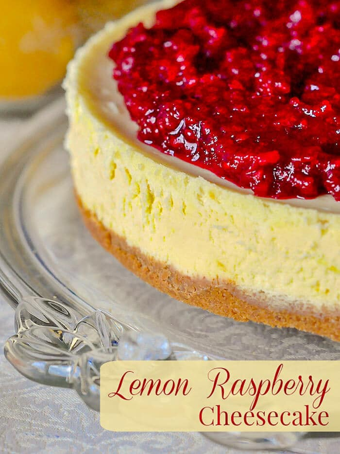 Lemon Raspberry Cheesecake image with title text