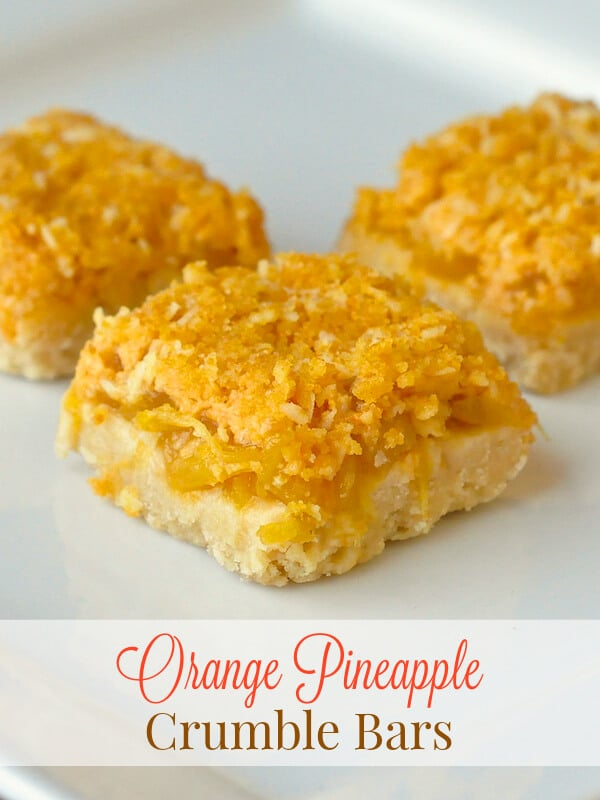 Orange Pineapple Crumble Bars