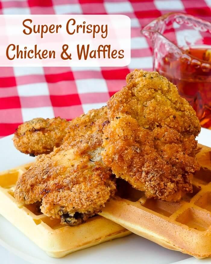 Super Crispy Chicken and Waffles